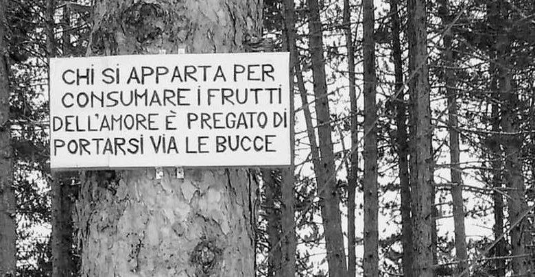 Photo of Parco Velino-Sirente, ironico cartello apparso a Ovindoli