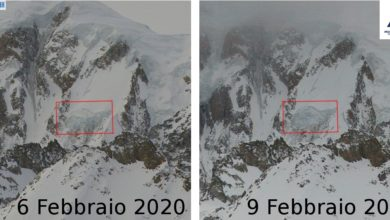 Photo of Monte Bianco, crolla seracco sul ghiacciaio del Gendarme Rouge
