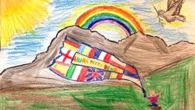 Photo of Arcobaleno sul Gran Sasso, il piccolo Nicholas: Andrà tutto bene