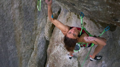 Photo of Melissa Le Nevé, prima donna sull'iconica Action Directe (9a)