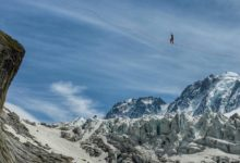 Photo of Nathan Paulin, highline da record sul Monte Bianco