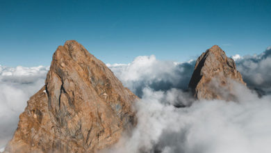 Photo of Super highline di 480 metri a 3.500 mt su Aiguilles d'Arves