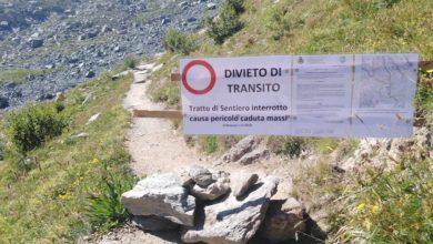 Photo of Frane Monviso, chiuso tratto sentiero per Colle di Viso e Rifugio Sella