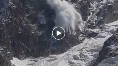 Photo of Monte Bianco, filmata valanga sotto al Col du Midi. Il video diventa virale