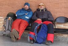 Photo of Alex Goldfarb e Zoltan Szlanko tentano l'invernale al Broad Peak